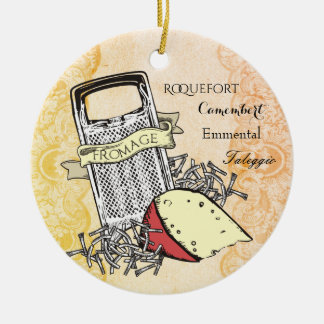 Fromage cheese grater gourmet Christmas ornament