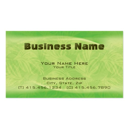 fronds in flight ~ bc business cards