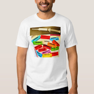 Front and Back - Anaesthetic Drugs and Labels T-shirts