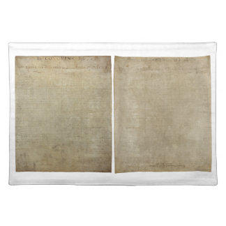 Front & Back ORIGINAL Declaration of Independence Placemats