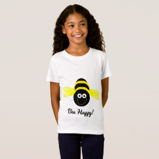 Front- Bee Happy! cartoon bee T-shirt