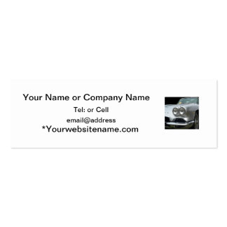 Front bumper view of a classic corvette business card templates