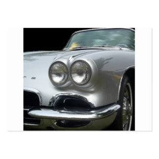 Front bumper view of a classic corvette business cards