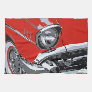 Front car color tea towel