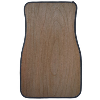 Front Cherry Wood Print Car Mats Set