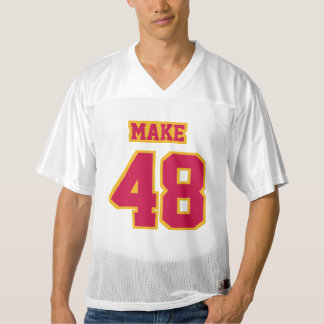 Front CRIMSON RED GOLD WHITE Mens Football Jersey