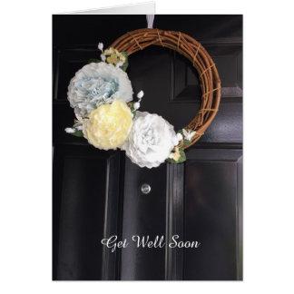 Front Door Wreath Get Well Card