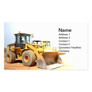 front end loader pack of standard business cards