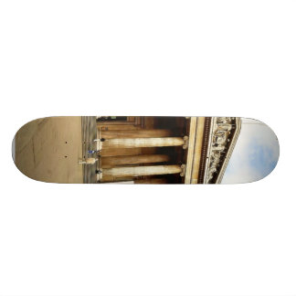 Front Entrance To The British Museum In London Eng Skateboard