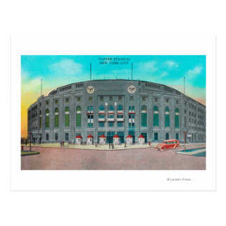 Front Entrance to Yankee Stadium View Postcard