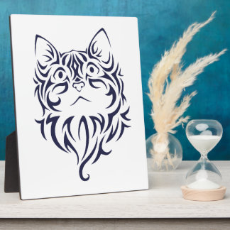 Front Facing Cat Kitten Face Stencil Plaque