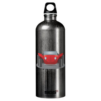 Front-Facing Red and Black Dune Buggy Water Bottle
