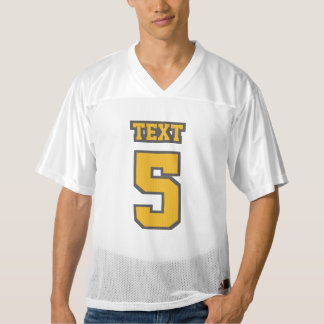 Front GOLD GREY WHITE Mens Football Jersey