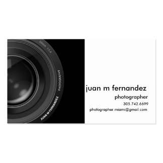 Front lens b&w Double-Sided standard business cards (Pack of 100)