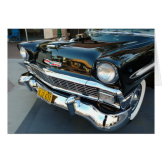 Front of a Classic 1956 Chevy Bel Air Hot Rod Card