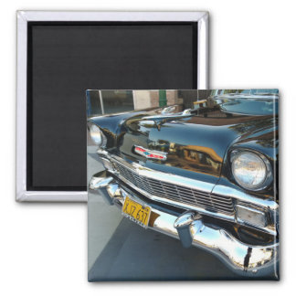Front of a Classic 1956 Chevy Bel Air Hot Rod Square Magnet