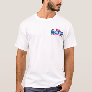 Front only: McLeod for Santa Clara City Council T-Shirt
