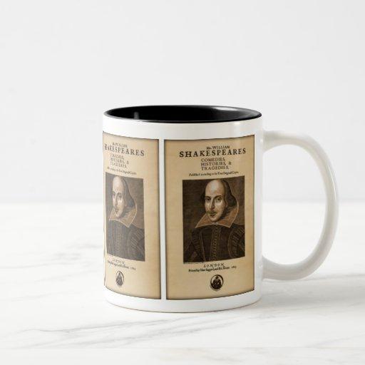 Front Piece to Shakespeare's First Folio Coffee Mug