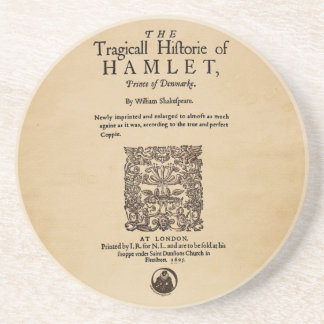 Front Piece to the Hamlet Quarto (1605 version) Coaster