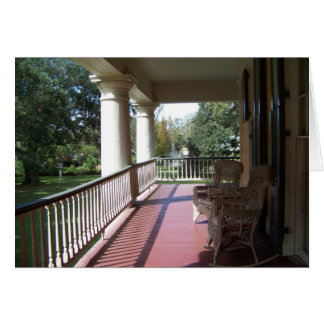 Front Porch at Houmas House Card