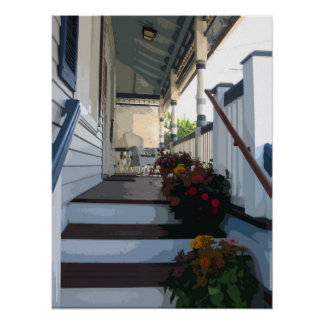 Front Porch in Ocean Grove NJ Poster