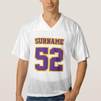 Front PURPLE GOLD WHITE Mens Football Jersey