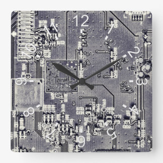 Front Side Bus Ride Square Wall Clock