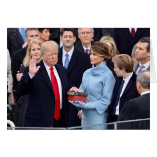 Front: Trump Sworn In / Inside: Trump At NYMA Card