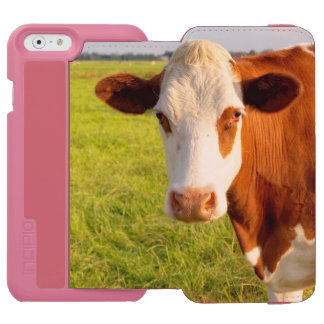Front view Friesian cow Incipio Watson™ iPhone 6 Wallet Case