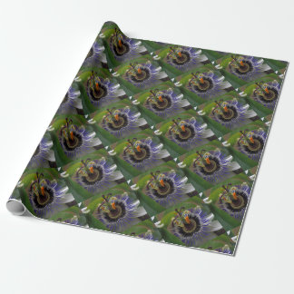 Front View of Beautiful Passiflora Flower Wrapping Paper