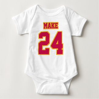 Front WHITE CRIMSON GOLD Bodysuit Football Jersey
