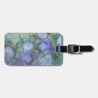 Front Yard Irises Luggage Tag