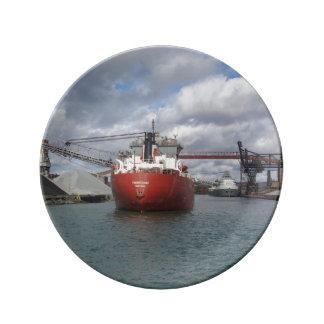 Frontenac & Saginaw at Essar Steel decorative plat Plate