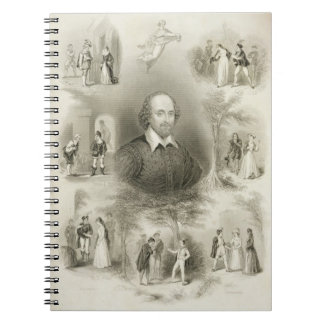Frontispiece for the 'Comedies', from 'The Complet Notebook