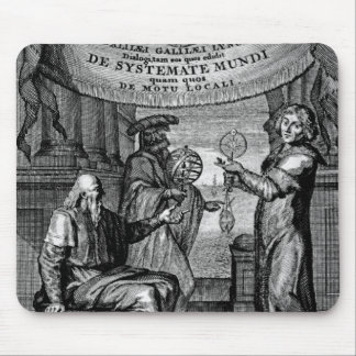 Frontispiece of 'Dialogus De Systemate Mundi' Mouse Pad