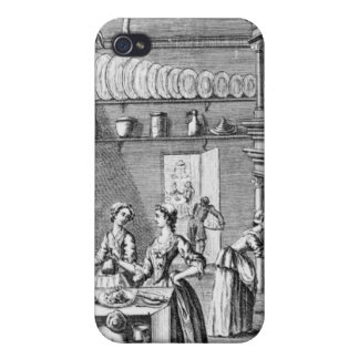 Frontispiece of 'The Compleat Housewife' iPhone 4 Cover