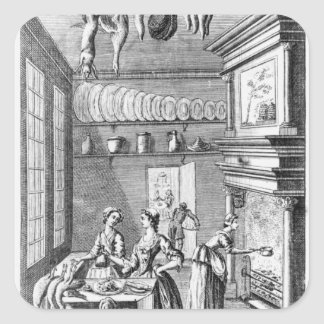 Frontispiece of 'The Compleat Housewife' Stickers