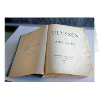 Frontispiece of 'Ulysses' by James Joyce Card