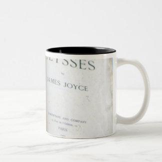 Frontispiece of 'Ulysses' by James Joyce Two-Tone Coffee Mug