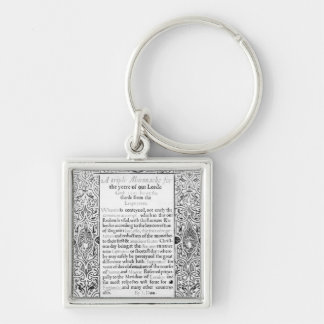 Frontispiece to a Roman Calendar, 1591 Keychain