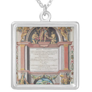 Frontispiece to 'Brevis Narratio' Silver Plated Necklace