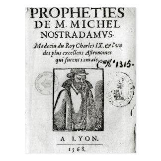 Frontispiece to 'Les Propheties de M. Michel Postcard