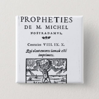 Frontispiece to 'The Prophecies 15 Cm Square Badge