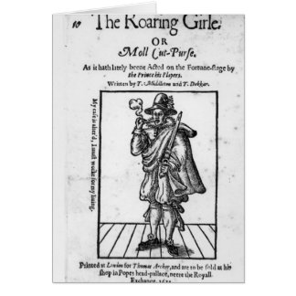 Frontispiece to 'The Roaring Girle' Card