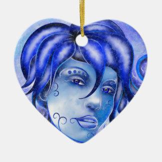 Frosinissia V1 - frozen face Ceramic Heart Decoration