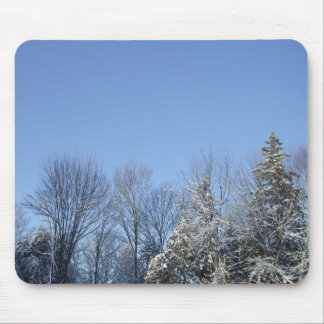 Frost Covered Trees Mouse Pad