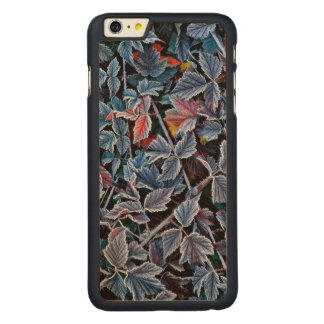 Frost on autumn leaves, Oregon Carved Maple iPhone 6 Plus Case