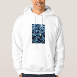 Frost patterns close-up, California Hoodie
