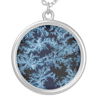 Frost patterns close-up, California Silver Plated Necklace