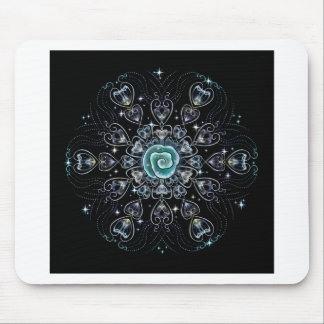 Frost Rose Mouse Pad
